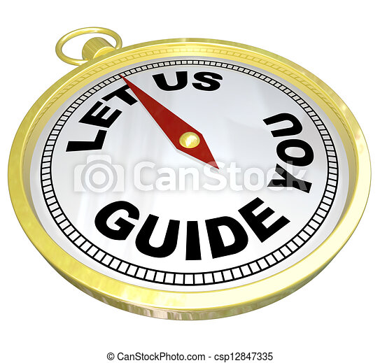Compass - Let Us Guide You Support and Service - csp12847335
