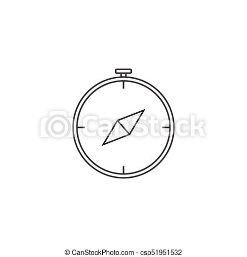 Compass line icon outline vector logo linear pictogram vectors compass line icon outline vector logo linear pictogram isolate ccuart Image collections