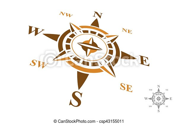 vector compass logo isolated on white background