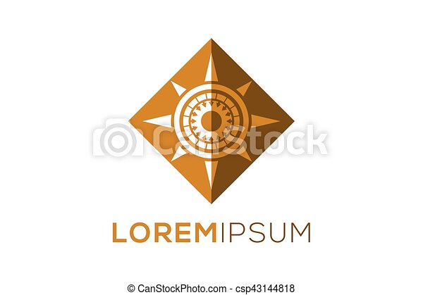 vector compass logo isolated on white vector clip art search