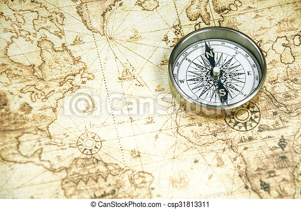 A compass on a old world map compass on a old world map csp31813311 gumiabroncs Images