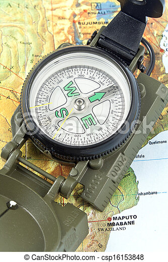 Compass on map of Africa - csp16153848