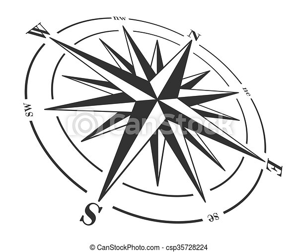 compass rose isolated on white vector illustration