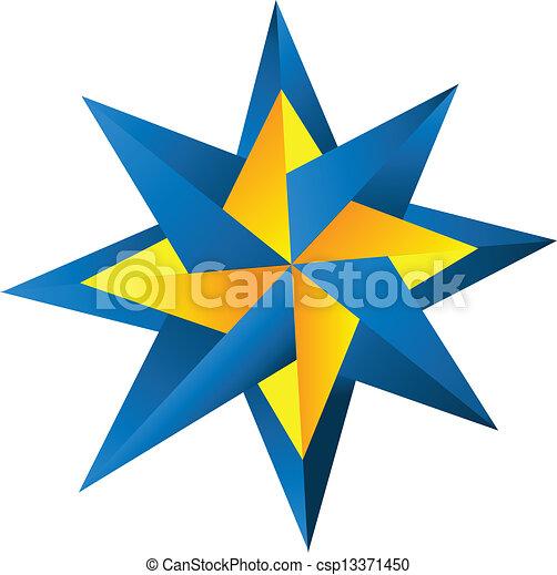 Compass rose logo - csp13371450