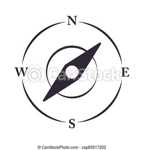 compass rose navigation location equipment line design icon - csp83017202