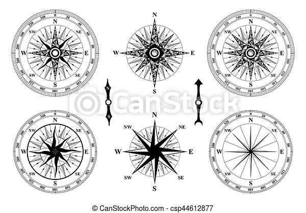 Compass Wind Rose Old Vintage Compass Vector Rose Of Wind