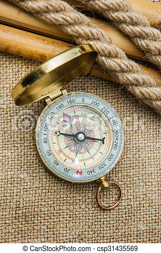 Compass with a rope - csp31435569