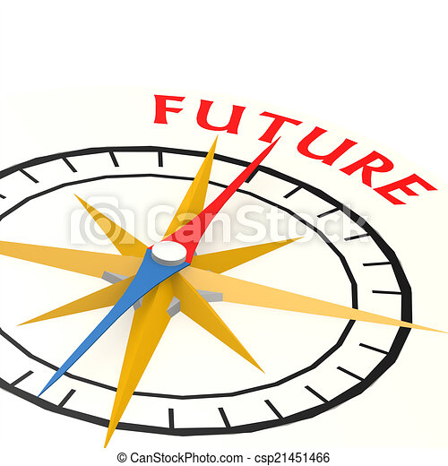 Compass with future word - csp21451466