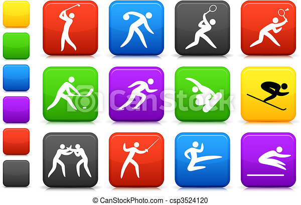 competative and olympic sports icon collection - csp3524120