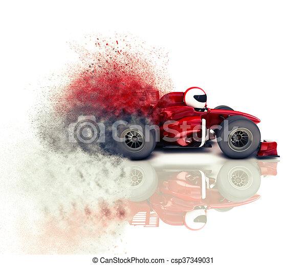 Auto de carreras 3D - csp37349031