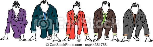 Gente de negocios de competencia ilustración - csp44381768