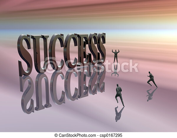 Competing, running for success. - csp0167295