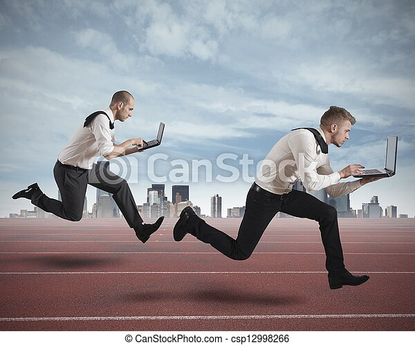 Competition in business - csp12998266