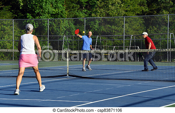Competitive Game of Pickle Ball - csp83871106