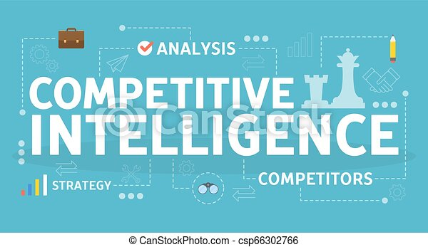 Competitive intelligence concept. Idea of business organization - csp66302766