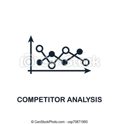 Competitor Analysis icon. Creative element design from business strategy icons collection. Pixel perfect Competitor Analysis icon for web design, apps, software, print usage - csp70871993