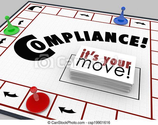 Compilance Board Game Follow Rules Regulations Laws - csp19901616