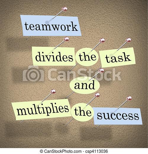 compito, lavoro squadra, multiplies, successo, divide - csp4113036