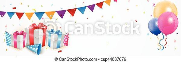 compleanno, bandiera, celebrazione - csp44887676