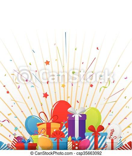 compleanno, elementi, celebrazione - csp35663092