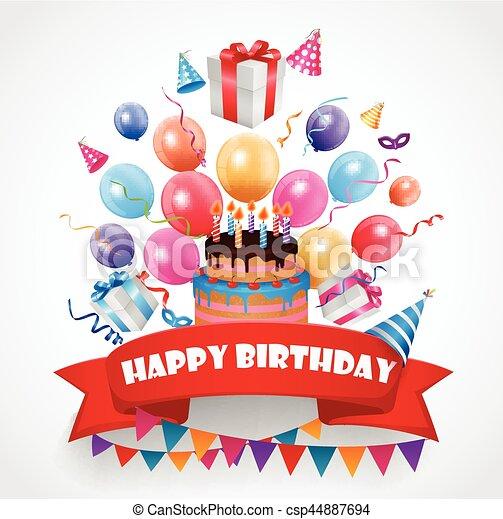 compleanno, fondo, celebrazione - csp44887694