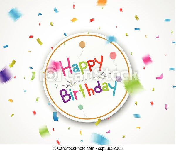 compleanno, fondo, celebrazione - csp33632068