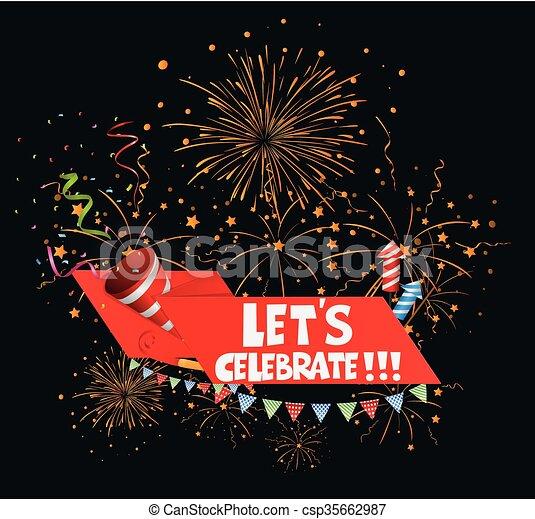 compleanno, fondo, celebrazione - csp35662987