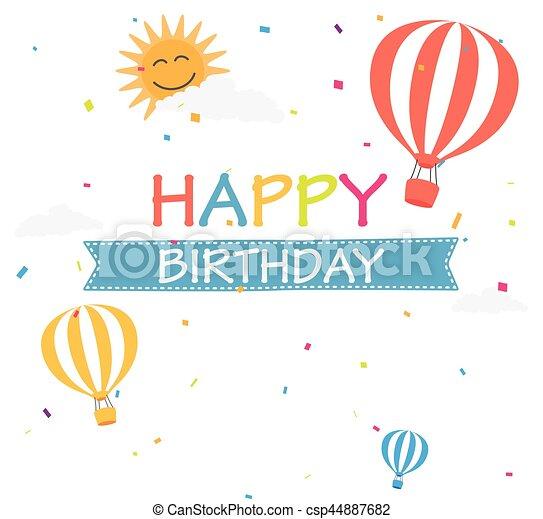 compleanno, fondo, celebrazione - csp44887682