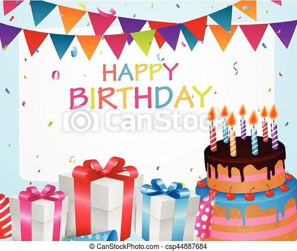 compleanno, fondo, celebrazione - csp44887684