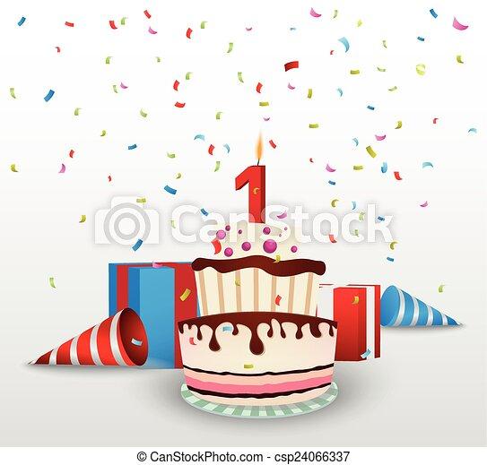 compleanno, fondo, celebrazione - csp24066337