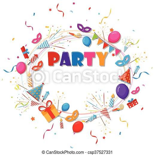 compleanno, fondo, celebrazione - csp37527331