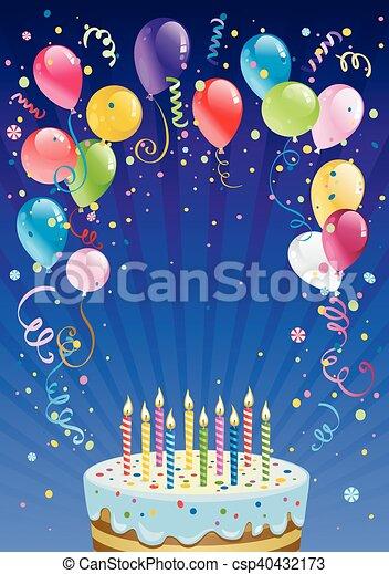 compleanno, fondo - csp40432173