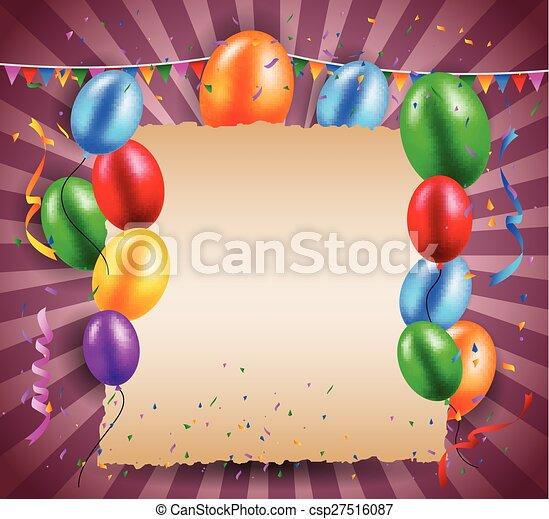 compleanno, fondo - csp27516087