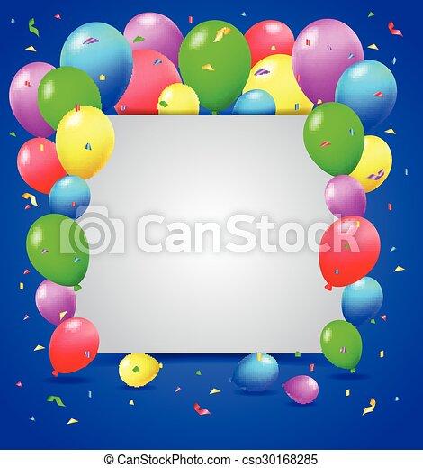 compleanno, fondo - csp30168285
