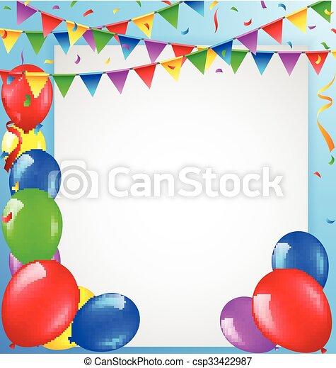 compleanno, fondo - csp33422987