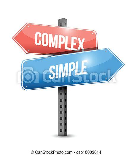 Complejo, simple diseño de ilustración de signos - csp18003614