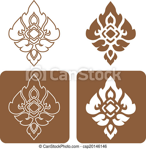 Complementary line thai art illustration. - csp20146146