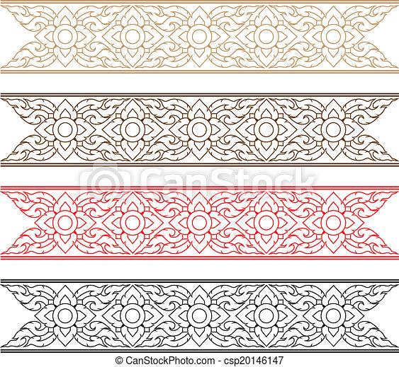 Complementary Line Thai art illustration. - csp20146147