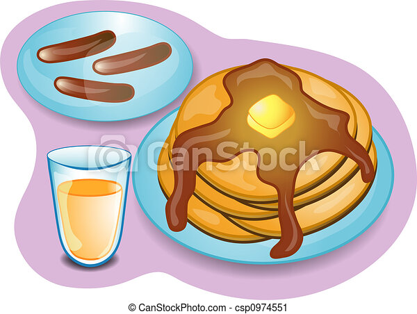 breakfast illustrations and stock art 147 617 breakfast rh canstockphoto com Pancake and Sausage Clip Art pancake breakfast clipart black and white