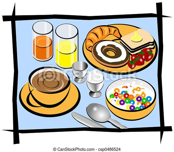complete breakfast breakfast illustration showing coffee bread rh canstockphoto com free breakfast clipart images free breakfast clipart templates