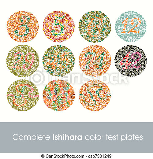 Complete Ishihara Color Test - csp7301249