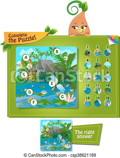 complete the puzzle insects 2 - csp38621189