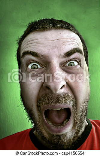 Completely shocked man - csp4156554
