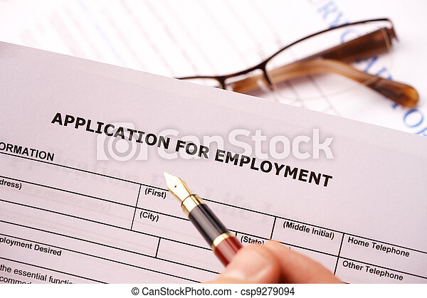 Completing an employment application - csp9279094