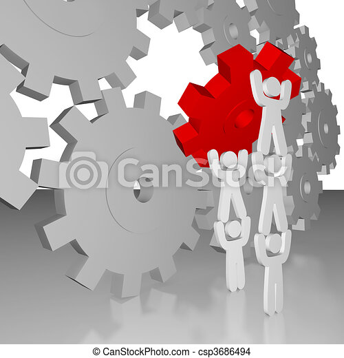 Completing the Job - Teamwork - csp3686494