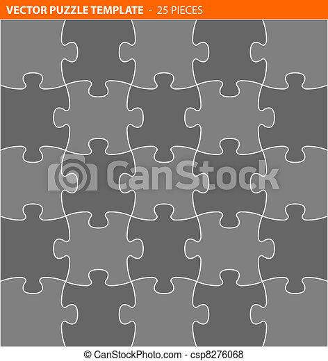 completo, puzzle, jigsaw, /, vettore, sagoma - csp8276068