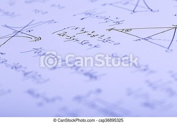 Complex Math Formulas - csp36895325