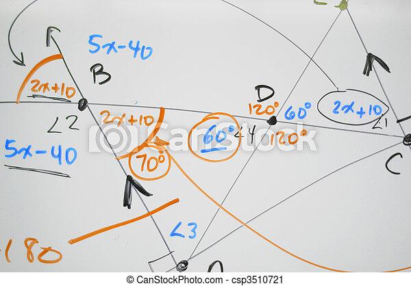 Complex math on whiteboard - csp3510721