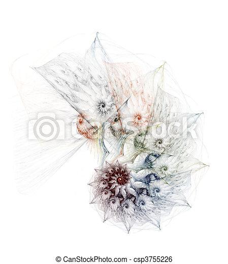 Complex nautilus on a white background - csp3755226