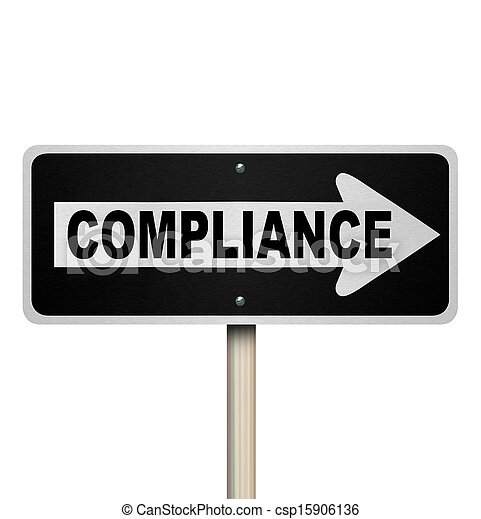 Compliance One Way Sign Pointing Following Guidelines - csp15906136